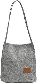 Pengy Women Canvas Shoulder Bag Laptop Bag Satchel Bag Bookbag School Working Bag