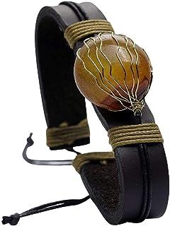 Fantam Gemstone Leather Couples Charm Bracelet - Gifts for Men, Bracelets for Women, Teen Girl Gifts, Boyfriend Gifts, Friendship Bracelets, Couples Bracelets