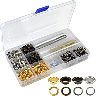 Grommets Kit, Jerbro 500 Sets Grommets Eyelets s with Installation Tools (3/16 Inch)