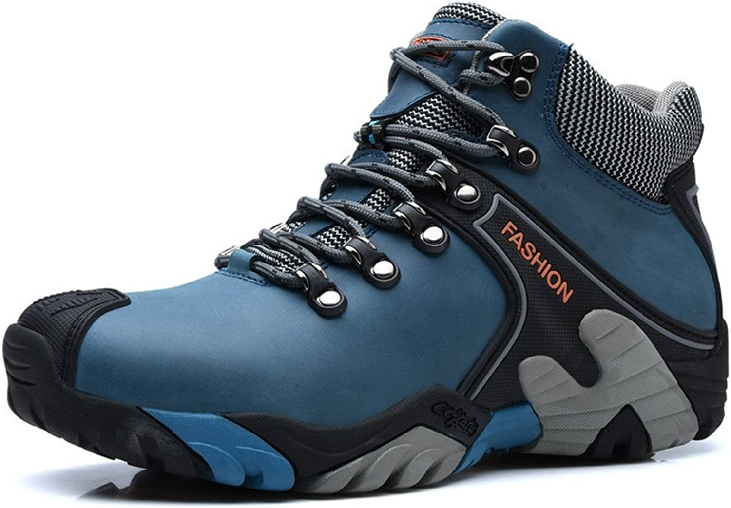 ZanYeing Men's Waterproof Snow Boots Plus Velvet Warm and Cold Resistant Slippery Climbing shoes Outdoor Hiking in Winter