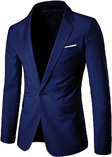Allthemen Men's Casual Blazer Slim Fit Formal Business Suit Jackets One Button Single Breasted Sport Coat Tuxedo Daily Blazer