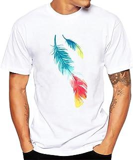 Camiseta de Manga Corta Verano T-Shirt para Hombre Moda Estampado Cuello Redondo Sueltos Casuales Transpirables Blusa Tops...