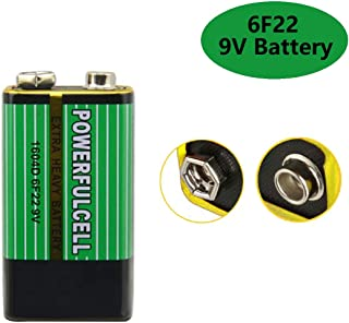 Cotchear 6F22 1604D 9V Battery Primary Zinc Carbon Batteries for Alarm Wireless Microphone No Mercury