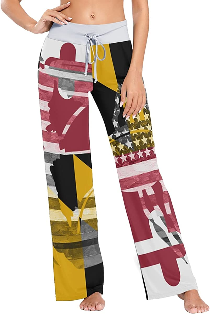 Discount is also underway QUZtww Maryland Flag Crab Sale Special Price USA Pants Pajama Stretch Trouser Sleep