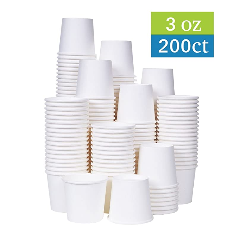 [TashiBox] 3 oz white paper bath cups, 200 count (200)