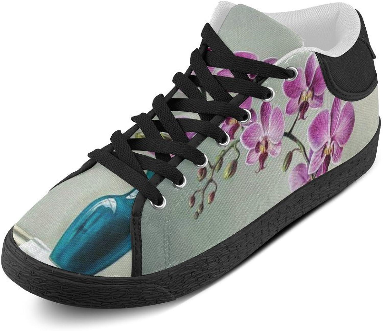CERLYRUAN Painting Flower Canvas Chukka Canvas Women's shoes