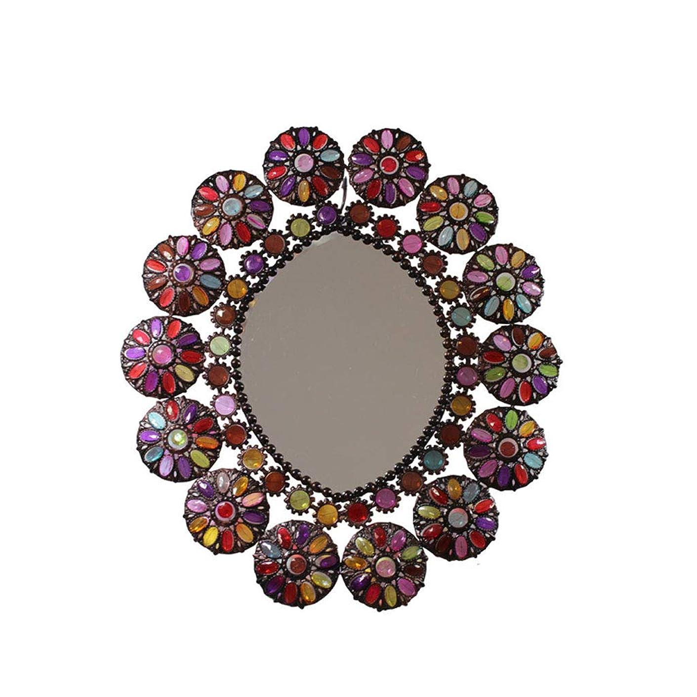 必要強いフォーカスヨーロッパのレトロなバスルームの鏡、錬鉄の装飾メイク JZ11/5