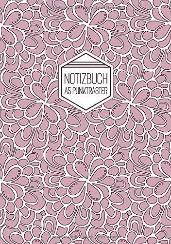 Notizbuch A5 Punktraster: Softcover Matt Florales Muster Rosa