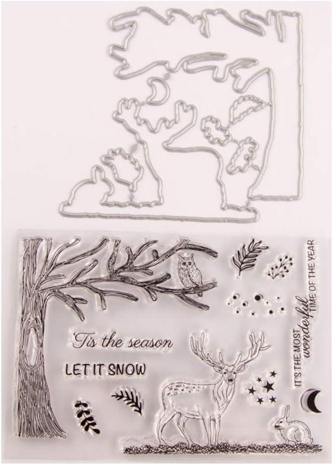 SIT.E Deer Superlatite Seal Stamp with Cutting Scrapboo Set Dies Max 55% OFF Stencil DIY