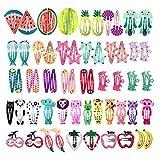 Pinza de Pelo para Niñas,60 Pcs Diseño de Dibujos y Fruta Clips Horquillas para el Pelo Bebe Niña Accesorios pelo para Mujer