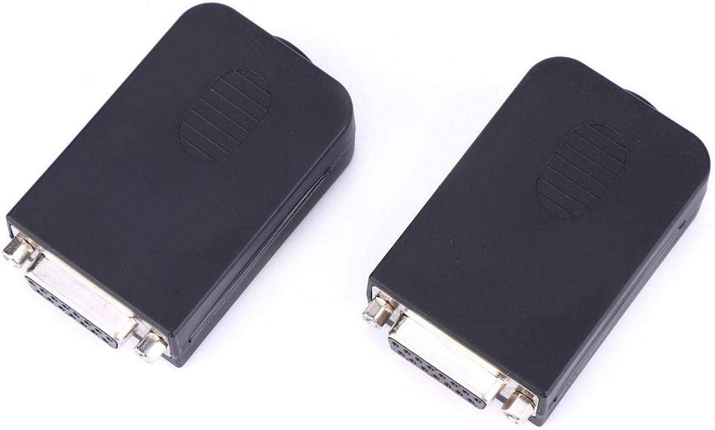 LSSJJ HDMI Screw Terminal Block OFFer 2Pcs DB15-M1-01 Kansas City Mall Nut Adapter Typ