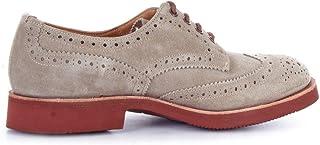 Luxury Fashion | Tricker's Men BOURTONDERBYBEIGE Beige Suede Lace-up Shoes | Season Outlet