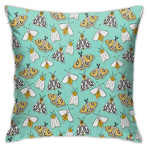 Funda de almohada, funda de almohada mágica en turquesa, moderna funda de cojín cuadrada, decoración para sofá, cama, silla, coche, 45,7 x 45,7 cm