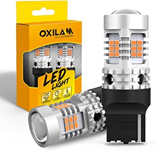 OXILAM 7440 LED Bulbs Amber Yellow 2800LM for Turn Signal Lights with Build-in Load Resistor CANBUS Error Free T20 7440NA ...