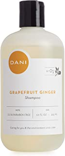 Natural Moisturizing Shampoo by DANI Naturals - Invigorating Grapefruit Ginger Scent - Organic Aloe Vera & Coconut Cleansers - Sulfate, Phthalate & Paraben Free - For Men & Women - 12 Ounces