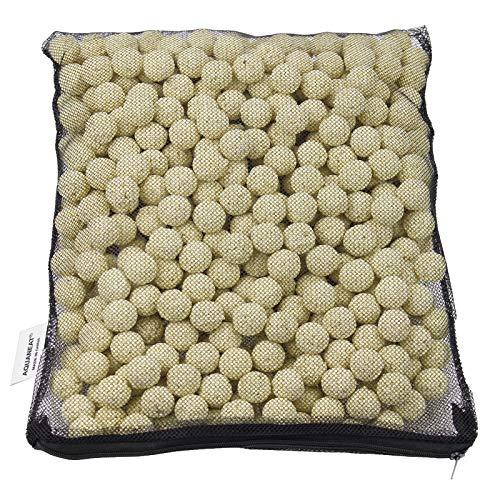 AQUANEAT Bio Ball Filter Media Bacteria House for Freshwater Aquarium and Marine Fish Tank Sump • Canister Filter • HOB Filter • Refugium • Koi Ponds 1 Gallon (2000g)