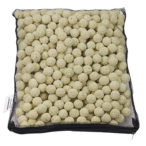 AQUANEAT Bio Ball Filter Media Bacteria House for Freshwater Aquarium and Marine Fish Tank Sump • Canister Filter • HOB Filter • Refugium • Koi Ponds 1 Gallon (2000g)