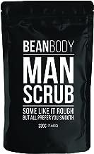 Mr. Bean Organic All Natural Coffee Bean Exfoliating Body Skin Scrub with Coconut Oil, Vitamin E, and Sea Salt - Man