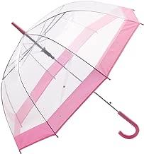 clear pink umbrella