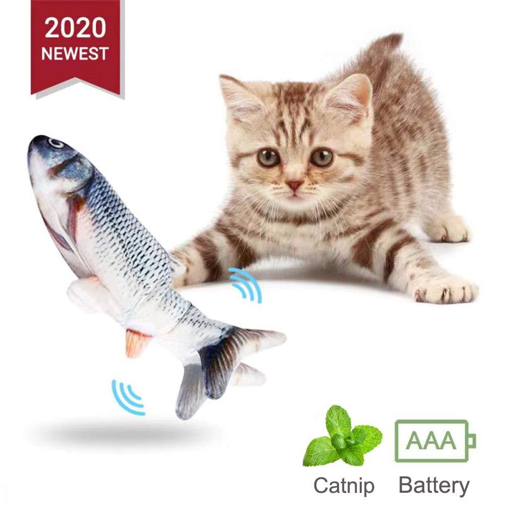 Juguetes para Gatos, Simulación Realista de Felpa Pez muñeca eléctrica, Pescados del Juguete Interactivos Divertidos Juguete de Limpieza de Dientes: Amazon.es: Productos para mascotas