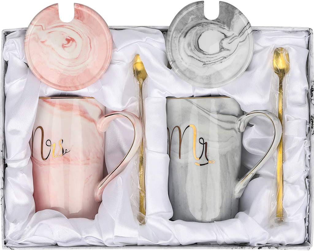 Mr and Mrs Couples Mug Set, Unique Wedding Gift for Bride and ...