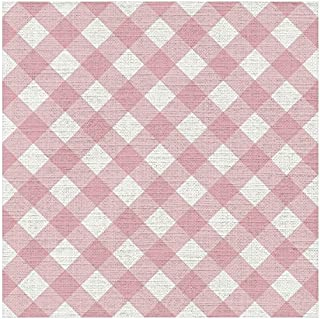 Graphique Gingham Pink Cocktail Napkins – Pack of 20 – Soft, Triple-Ply, Disposable Beverage Napkins, Great for Parties, Picnics and Hosting in Style