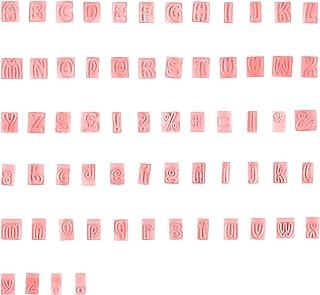 AvoDovA 64PCS Emporte Pièce Lettres, Plastique Emporte Pièces Set, Alphabet Fondant Cutter pour Enfant, Moule à Emporte Pi...