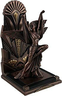 The Winged Woman Metallic Copper Finish Art Deco Single Bookend Statue