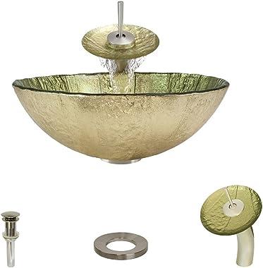 623 Brushed Nickel Waterfall Faucet Bathroom Ensemble