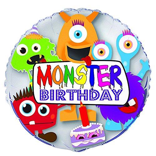 Unique Party Supplies Wilder Geburtstag Monster, Geburtstagsballon 18-inch