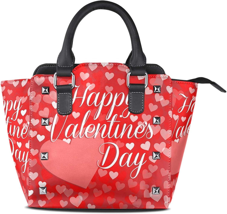 My Little Nest Women's Top Handle Satchel Handbag Happy Valentines Day Big Heart Ladies PU Leather Shoulder Bag Crossbody Bag