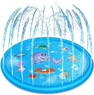 Inflatable Swimming Pool with Sprinkler Inflatable Children's Pool, Swimming Center for Children, Adults, Babies, Toddler...