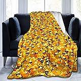 Patito de Goma Amarillo con Gafas de Sol Manta de vellón Ultra Suave Manta de...