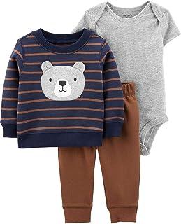 Carter's Baby Boys' 3-Piece Brown Bear Little Pullover Set - Newborn