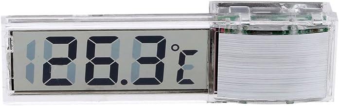 ACAMPTAR termometro digital transparente LED Medidor de temperatura para el acuario