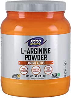 NOW Sports Nutrition, L-Arginine Powder, Nitric Oxide Precursor, Amino Acids, 2.2-Pound