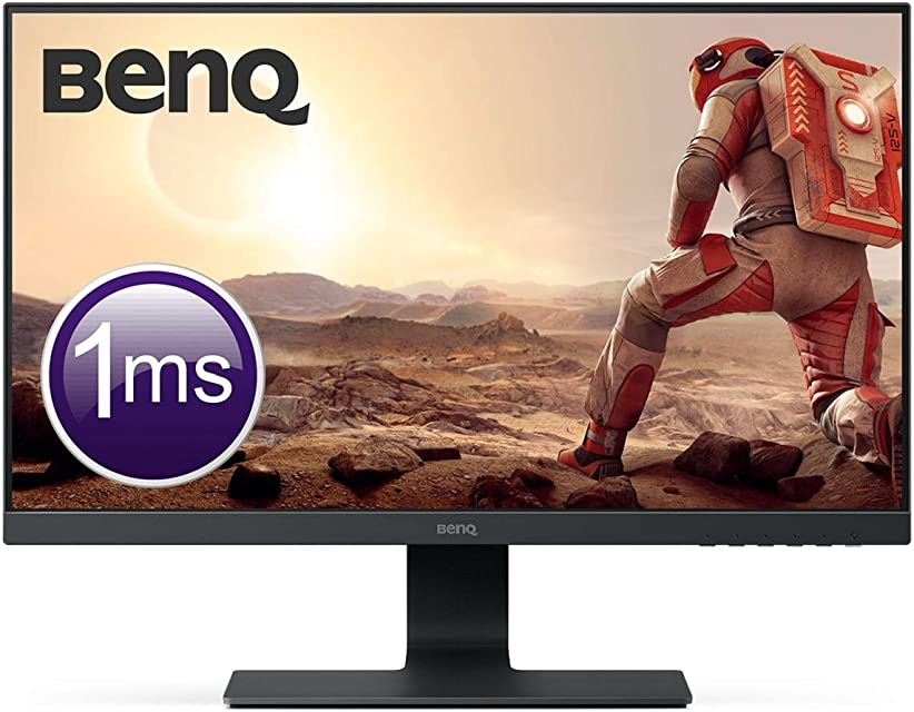 BenQ GL2580HM - Monitor Gaming de 24.5 FullHD (1920x1080 1ms 60Hz HDMI DVI VGA altavoces Eye-care Flicker-free Low Blue Light antireflejos E2E bisel estrecho sin marco) - Color Negro