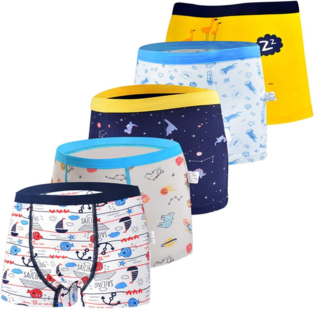 Boys' Selling and selling Boxer Briefs Denver Mall Shorts Toddler Dinosaur Shark Un Truck Cotton