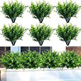 Natural Greenery- The artificial boxwood plant,dense leaves, fresh and natural appearance, has always maintained a beautiful posture, is an ideal decoration choice for home and holiday party Size- The artificial boxwood plant is 13 inch long and has ...