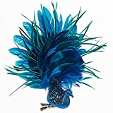 Glittered Peacock Clip Ornament w Feathers 8x9x2 inch by Kurt Adler