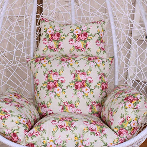 LIYANJIN Hanging egg hammock chair cushions,Fluffy Removable Washable Thick nest Pillow Without chair Ergonomics Courtyard Garden-I