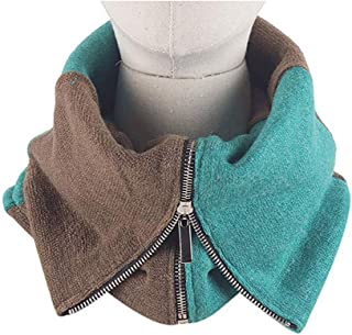 Orityle Couple Winter Creative Scarves Zip Mock Turtleneck Collar Neck Warmer Scarf for Women Men