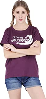 Broadstar Women's Cotton Black T-Shirt