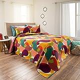 King Quilt Bed Set, 3 Piece Reversible Microfiber Quilt Bedding Set With Shams –Evelyn Embossed Quilt Bedroom Set by Lavish Home (Pink Rose)