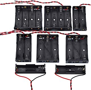 KeeYees 電池ボックス 電池ケース 1.5V 単3電池用 1本 2本 3本 4本 2個ずつ 8個入り リード線付き プラスチック製