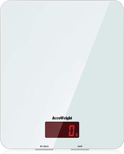 ACCUWEIGHT Balance de Cuisine Électronique Balance Multifonctionnelle Numérique avec Écran LCD Rétro-éclairé Balances...