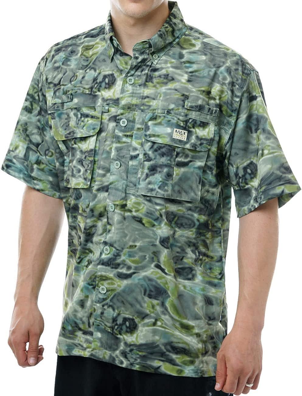 Aqua Manufacturer regenerated product Design: Fly Fishing Mens Shirts Brand Cheap Sale Venue Sleeve UPF Fl 50+ Men Short