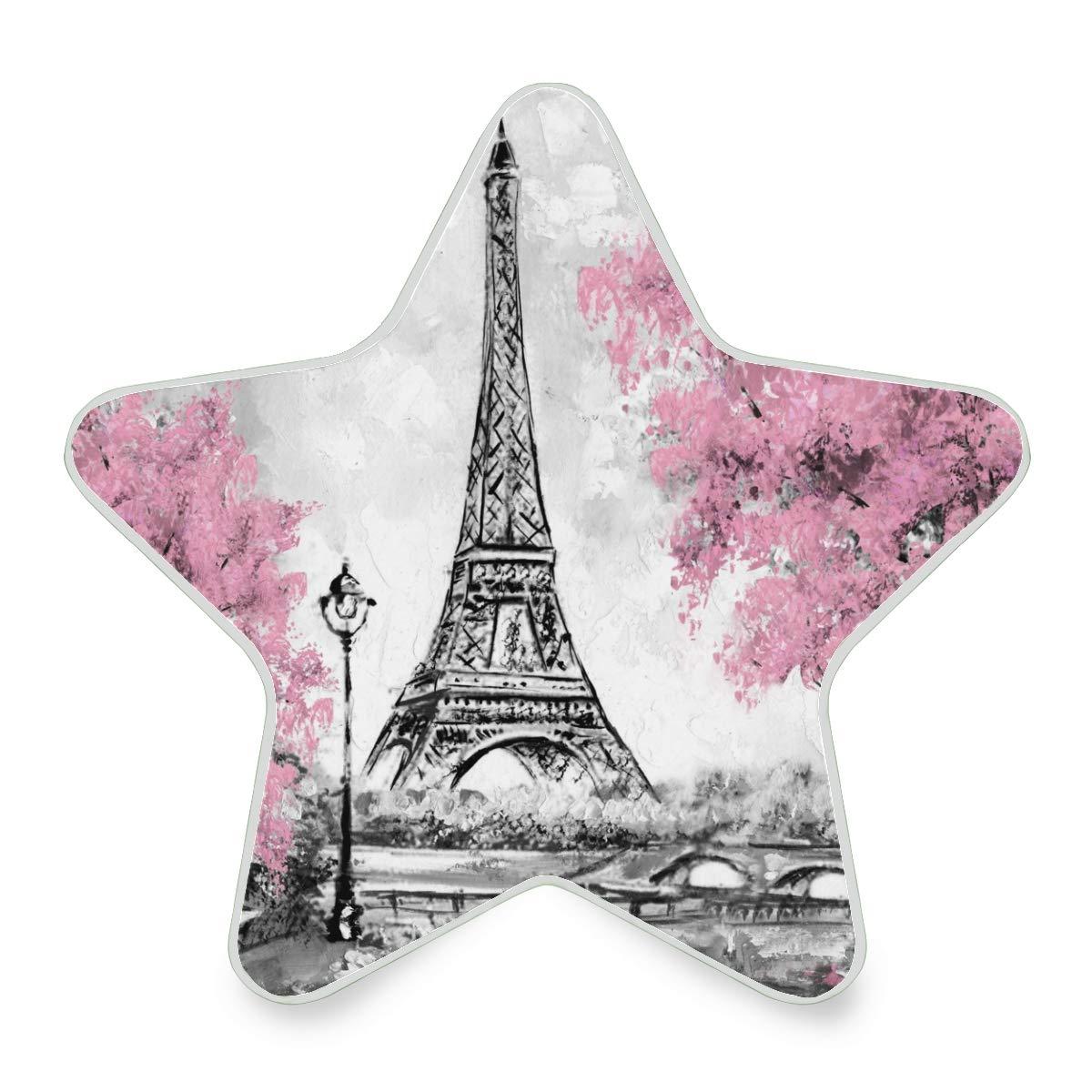 Vinln conecte una luz LED nocturna Torre Eiffel París Auto Senor luz nocturna hasta la mañana gris luz lámpara para dormitorio, pasillo, escalera, vivienda (no apto para Reino Unido): Amazon.es: Iluminación