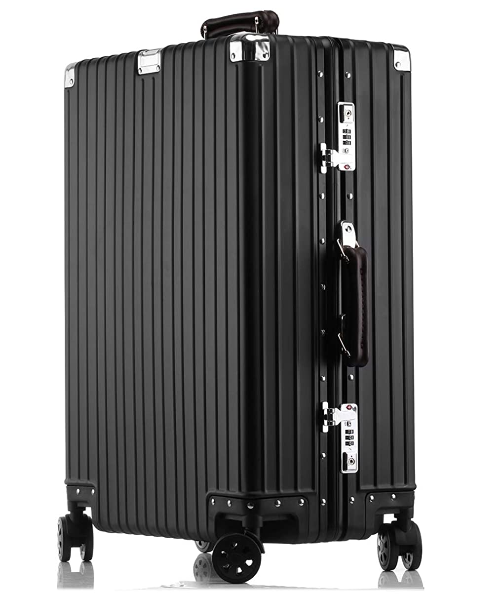 朝マティス必要条件LNMLAN アルミニウムマグネシウム合金製スーツケース 機内持ち込みスーツケース トラベルバッグ キャリーバッグ 静音キャスター 自在車 1802