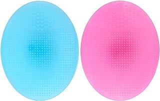 Frcolor 2 stuks siliconen handmatige gezichtsreinigingsborstels, handmat-reiniger voor de gevoelige huid.